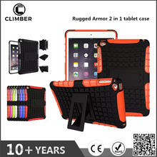 Hybrid Armor 2 in 1 shockproof TPU PC tablet cover For ipad mini4 case