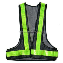 Factory direct wholesale custom design high visibility road motorcycle reflective safety vest