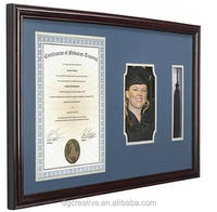 8.5 x 11 and 5 x 7 Matted with Tassel Holder Brown Graduation Picture Frame for Wall,