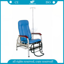 AG-TC001 Convenient blue hospital chairs for patients with I.V.Pole