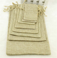 20*30cm Handmade Burlap Jute Drawstring Jewelry Packaging Bags for Christmas Gift Candy Storage Wedding Decor Soap
