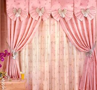 100% Acrylic Professional Fancy Curtains With Embroidery