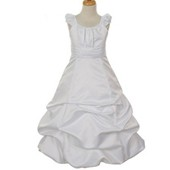 Party clothing long design girl ball gowns dresses kids satin flower girl dress patterns