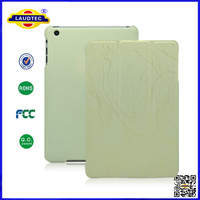 Tri-Fold Smart Magnetic Leather Hard Case Stand Cover For iPad mini Laudtec