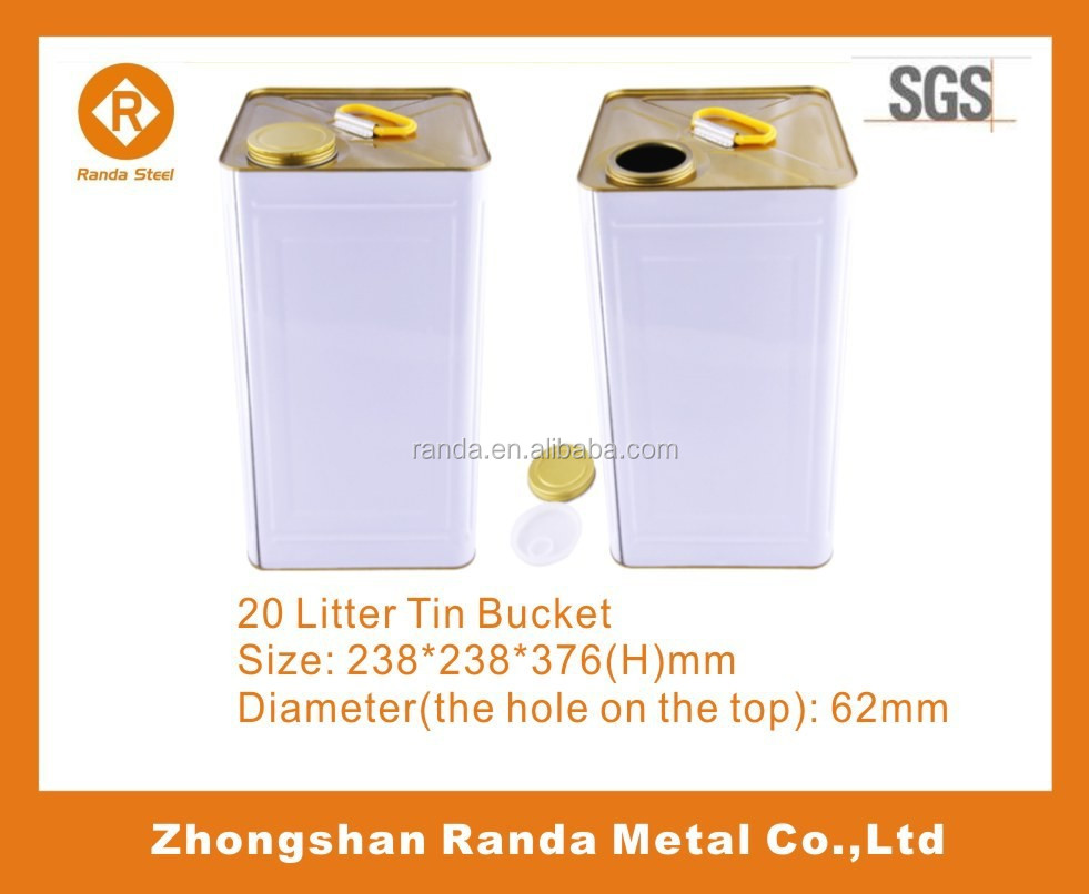 20L Tin Material and Paint Use Paint Tins