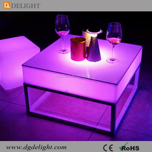 Waterproof IP68 Outdoor LED Lighting Table Plastic Glow Furniture Table LED Furniture