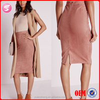 Mauve Faux Suede Midi Skirt , Bodycon Skirt , Tight Skirt Pattern
