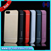 Aluminum Metal Back case for iphone 4 5 5s Motomo hard case