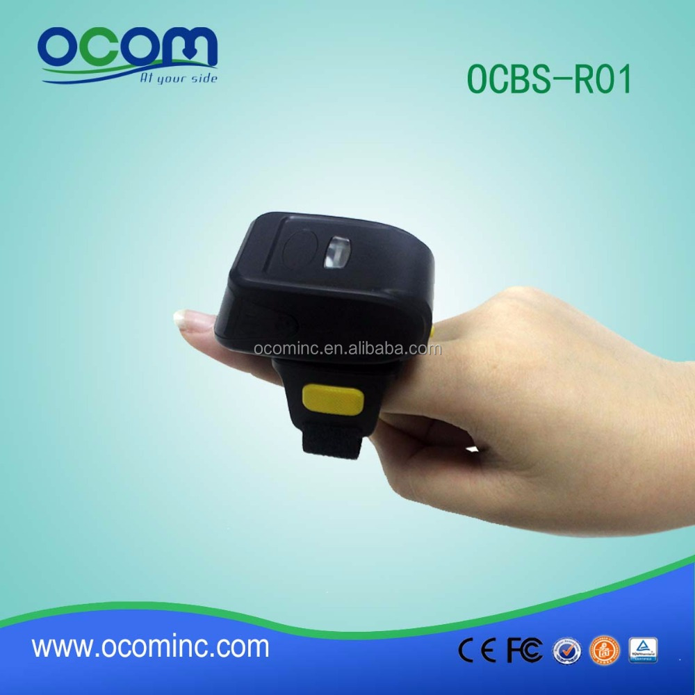 2D Mini <strong>Bluetooth</strong> Ring Type Wireless Barcode Scanner OCBS-RO2
