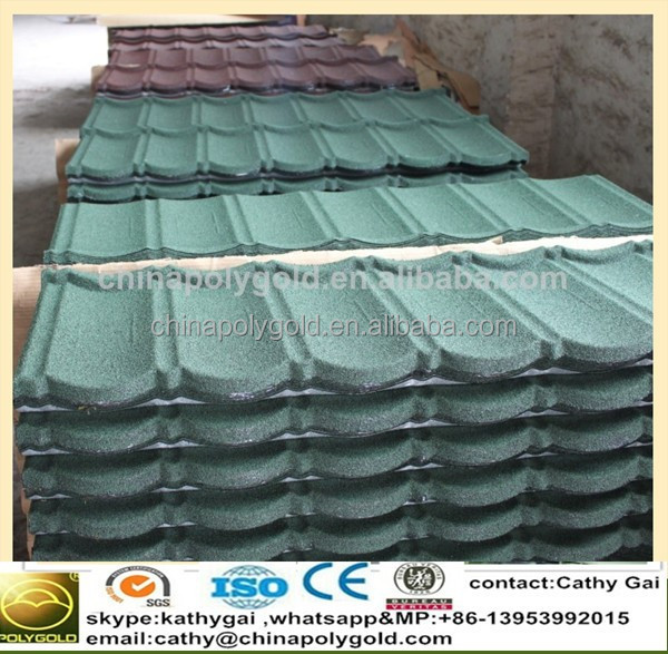 New popular colorful stone coated metal roofing tile/metal corrugated tile roofing/decorative building material roofing