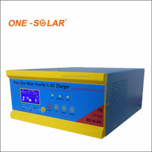 Hybrid Solar Power Inverter 700W 1000VA 12V/24V DC to 110V 220V 1KVA AC off Grid Tie Combined With PWM Controller AC Charger