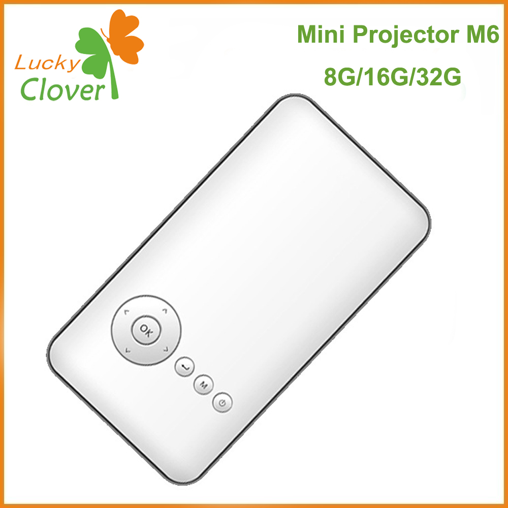 Factory Price Wifi home video used M6 mini projector for sale hot selling in LuckyClover