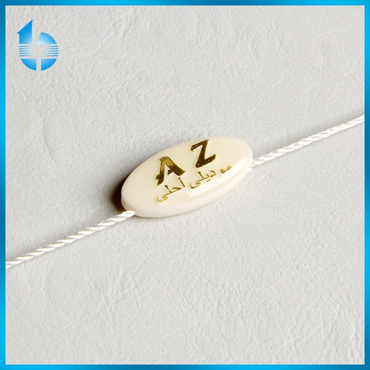 Fashionable plastic drop seal tag for handbag