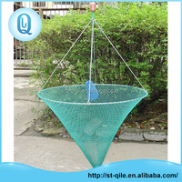 Durable pe strong iron frame top selling round large capacity shrimp fishing net