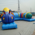 Adorable cartoon shape inflatable barriers obstacle