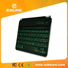 Unique 7 colors bluetooth backlit keyboard for ipad mini