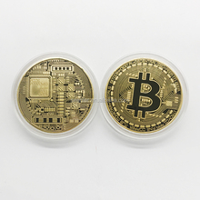 professional making brass iron zinc alloy stamped gold silver plated Bitcoin customized challenge coin