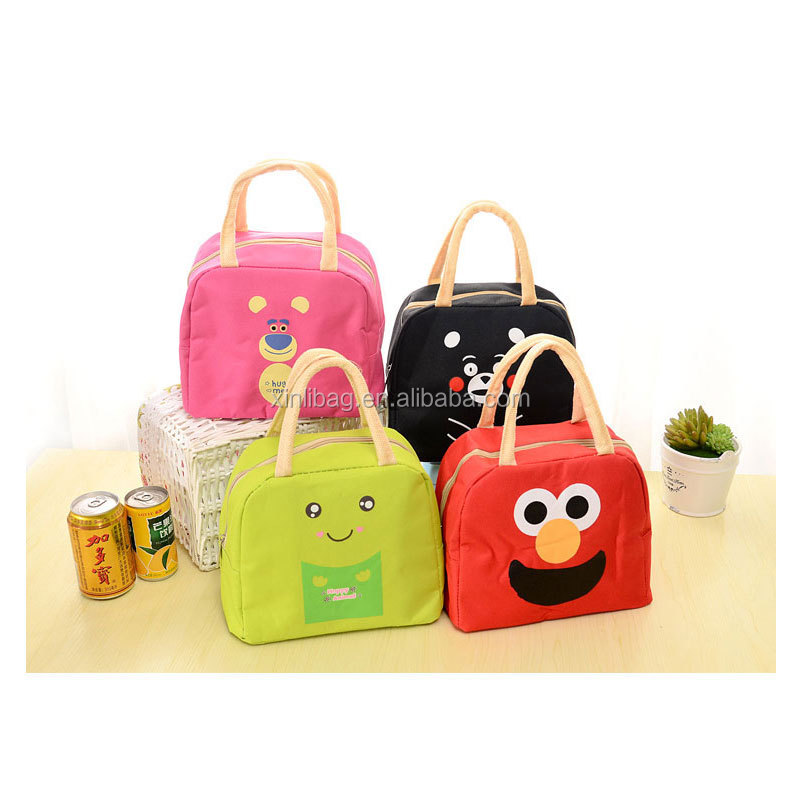 China Suppliers Waterproof Oxford Fabric Cute Cartoon Printing Insulated Single Lunch Small Cooler Bag
