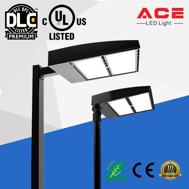 UL DLC Listed 143lm/w 450W replacement Outdoor IP65 Parking Lot LED Lights
