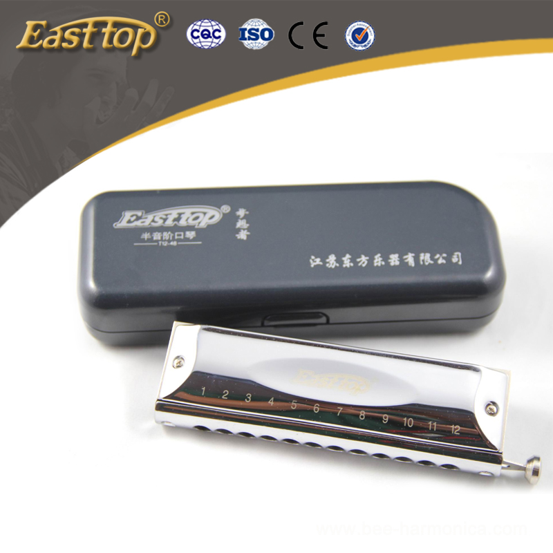 12 hole 48 tones professional harmonica chromatic