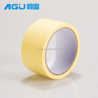 China manufacture factury yellow color crepe paper printed masking tape