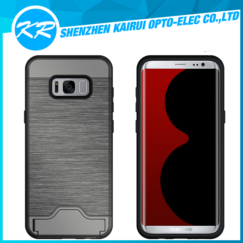 2017 new!!!Shock Absorption Hybrid Armor Defender Protective Case Cover for Samsung Galaxy S8