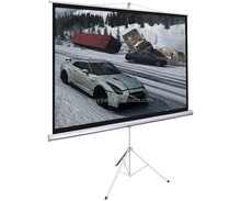 Flexible outdoor projector screen for advertisement presentation