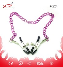 Sexy Metal Nipple Clamps for female with Chain Sex Toys nipple toy Sex Products for Couple Adult Game