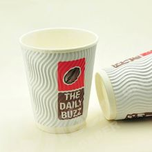 quality paper coffee cup,ripple paper hot cups,customed logo printed 3d wall paper cup