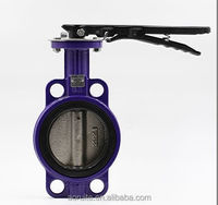 cheap price Cast Iron wafer butterfly valve with pin