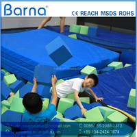 2016 single bungee jumping trampoline with foam pit, suppliers indoor trampoline arena