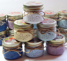 High quality wholesale mini mason jar candle with metal lid