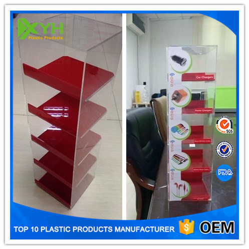 Shop Counter Design Low Price China Mobile Phone Accessory Acrylic Display Case New 2016