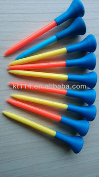 200pcs Packed Colorful Rubber Top Golf Tee