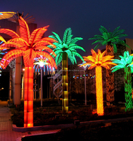 led artificial decorative outdoor lighted palm tree