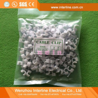New Arrival PE Material 100Pcs/Bag Round Nail Cable Clip