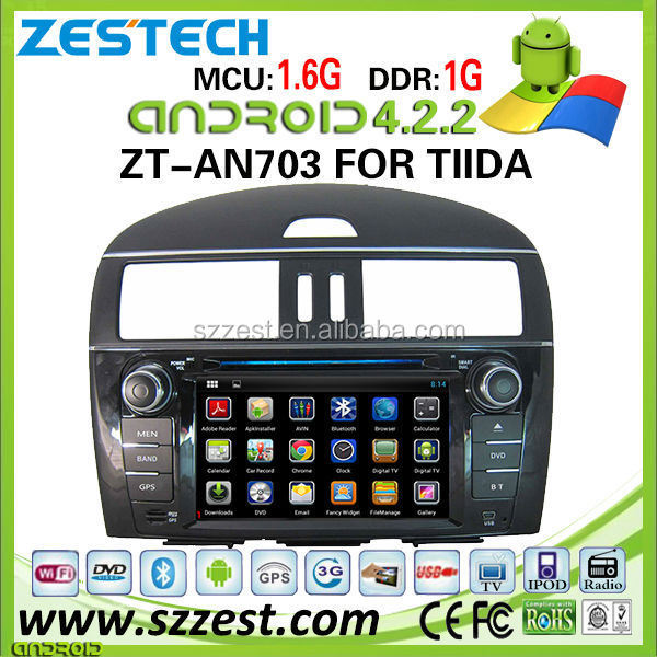 car video for nissan tiida car video sylphy xtrail with Android 4.2.2 mp3 player digital TV ZT-AN703