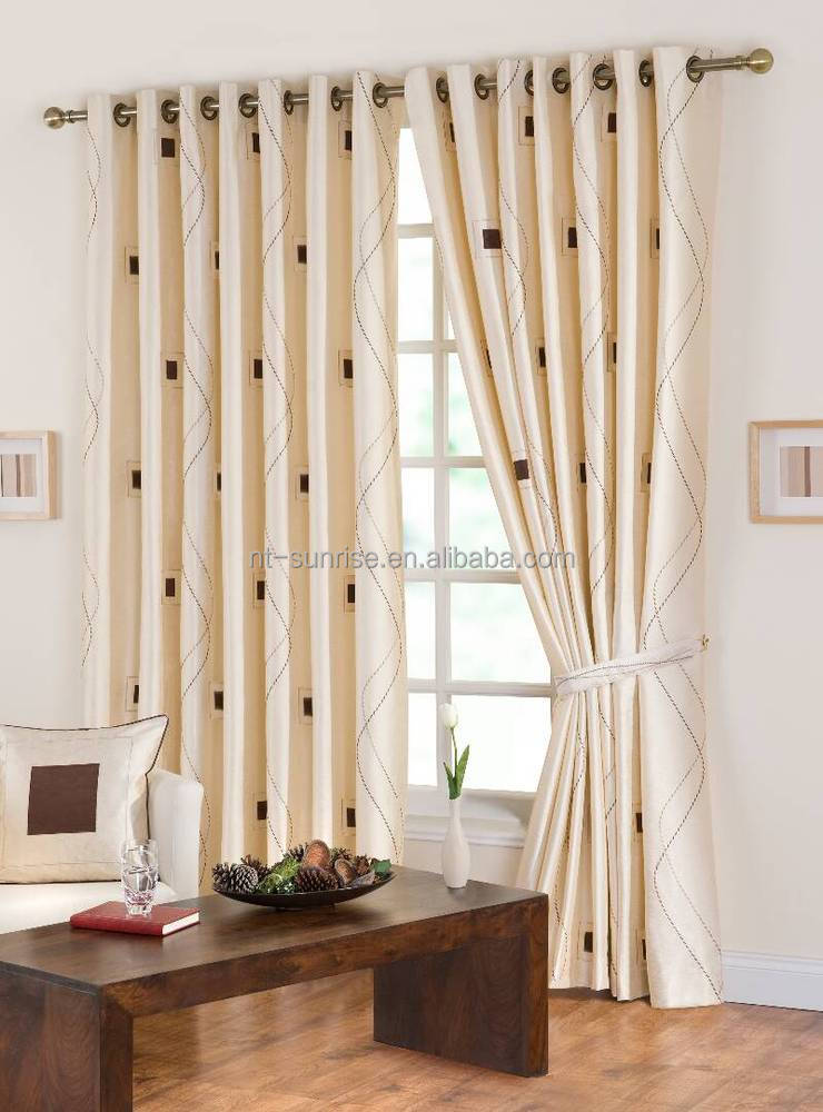 100%polyester home decor curtains quilted curtain from china supplier