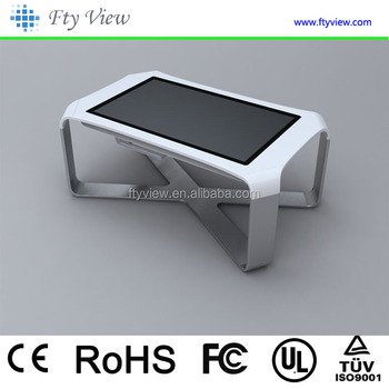 42 inch coffee table style touch screen with wifi led advertising player