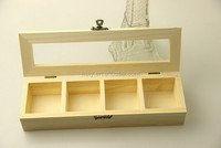 Wooden hanging display box with clear display window
