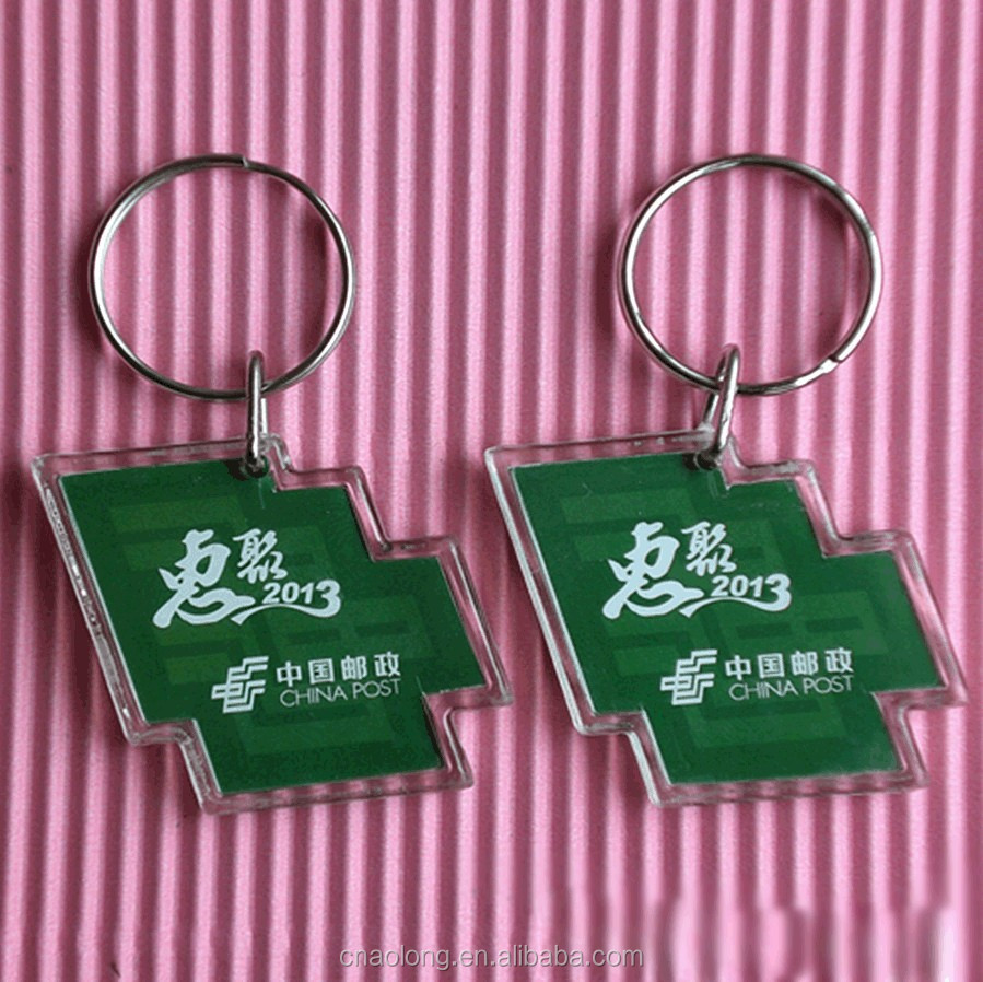 cheapest factory price custom logo and shape blank acrylic plastic photo keychains/clear plastic keyring