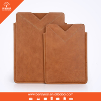 2015 new product leather tablet genuine leather cover for Ipad5 case for Ipad mini