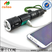 Best Quality Bright XML-T6 LED Flashlight 5 Modes 3000 Lumens Zoomable LED Torch Light Wholesale