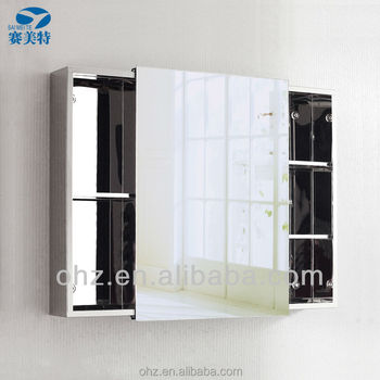 Modern Stainless Steel Sliding Door Bathroom Mirror Cabinet,7094