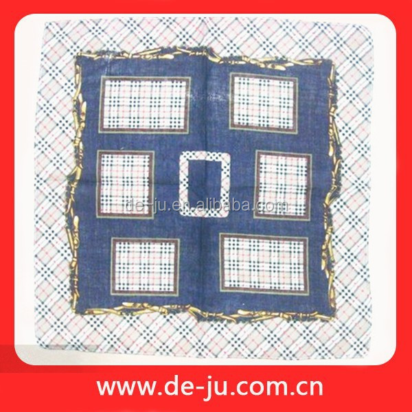 Cotton Embroidered Printing Pocket Squares Handkerchief