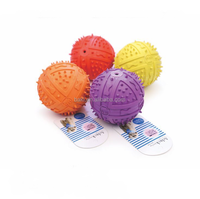 High Quality Natural Rubber Spiky Ball Dog Toy Squeaky