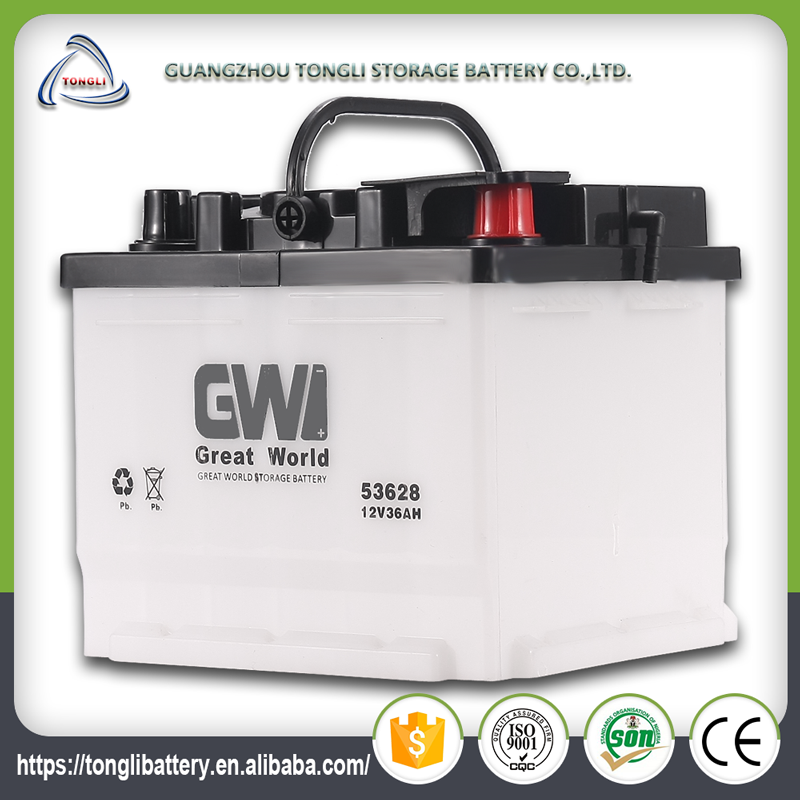 12volt dry cell automobile 53628 car battery manufacturer korea