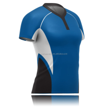 Professional new style dri fit sublimation custom women rugby jersey