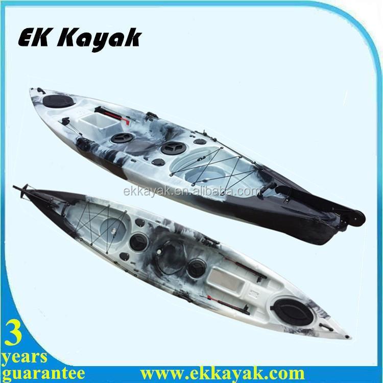 Professional sea fishing kayak canoe boat with kayak foot for Fishing kayak with foot pedals