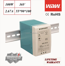 MDR-100 36V 100W Mini small size Din Rail power supply driver 110V/220V AC/DC wide constant voltage smps LED strip CE ROHS